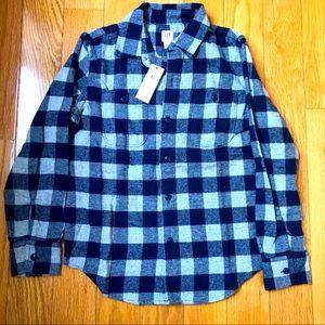 NWT Boys Gap Size 8M Checkered plaid shirt